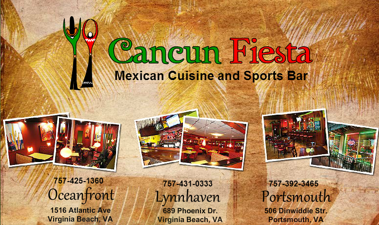 Cancun Fiesta Mexican Cuisine And Sports Bar 1516 Atlantic Avenue Virginia Beach Va
