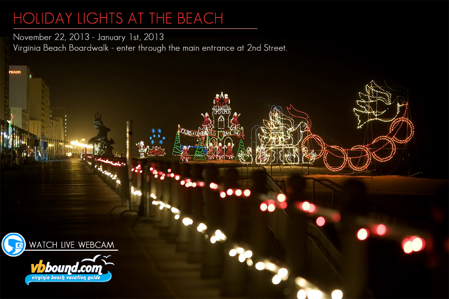 mcdonalds holiday lights at the beach virginia beach boardwalk - Virginia Beach Christmas Lights